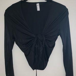 American Apparel black tie shirt
